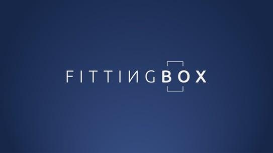 Fittingbox sur fond bleu