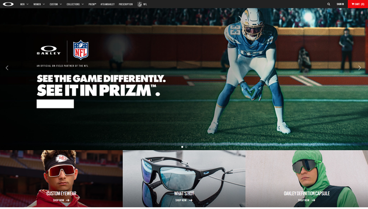 The sports eyewear brand Oakley for performance