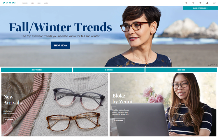 Zenni website for a cheap and wide range of eyewear